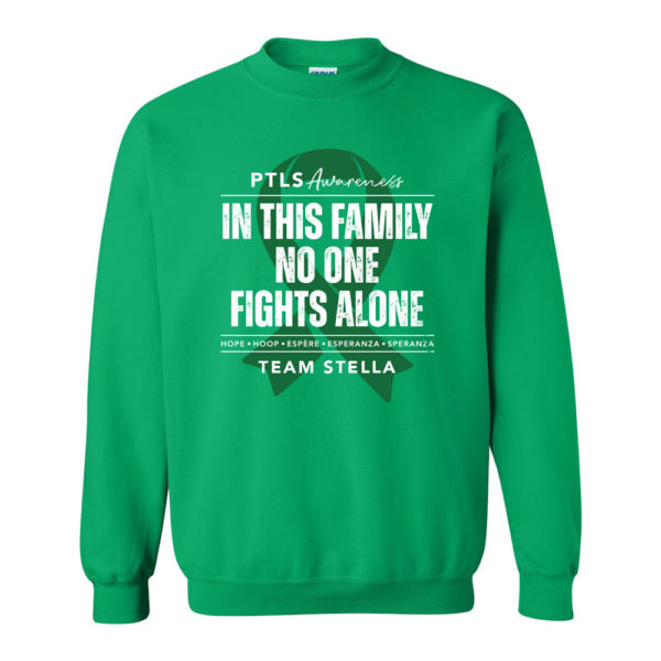 In This Family No One Fights Alone Crewneck Sweatshirt - Personalized