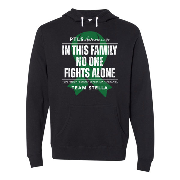 In This Family No One Fights Alone Hooded Sweatshirt - Personalized