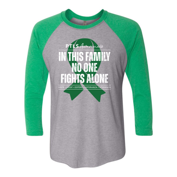 In This Family No One Fights Alone 3/4 Baseball Tee