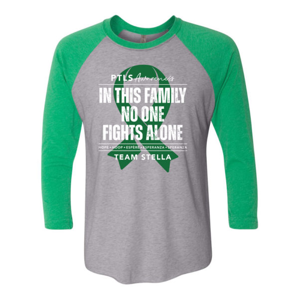 In This Family No One Fights Alone 3/4 Baseball Tee - Personalized