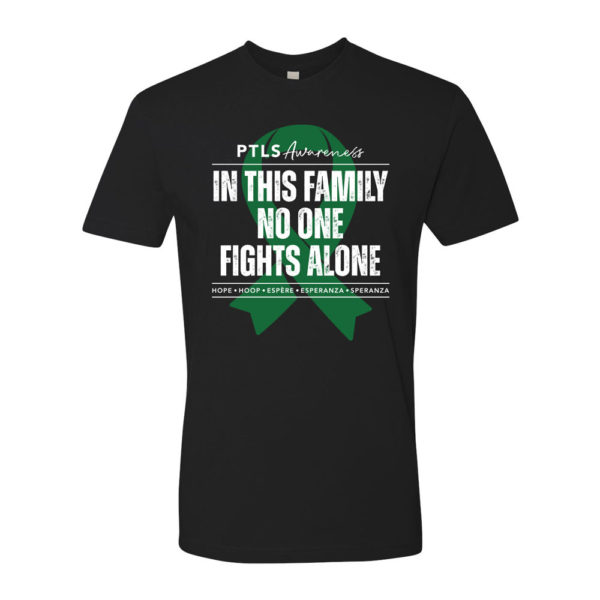In This Family No One Fights Alone Tee - Black