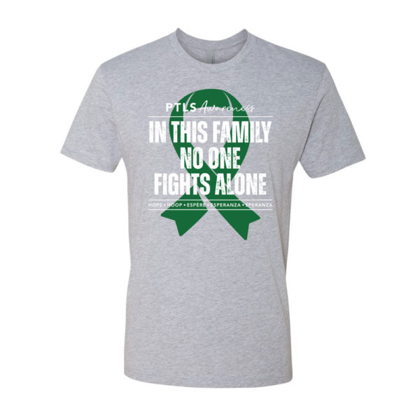 In This Family No One Fights Alone Tee - Heather Grey