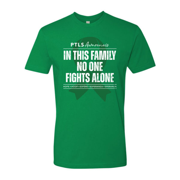 In This Family No One Fights Alone Tee - Kelly Green