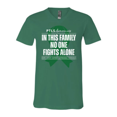 In This Family No One Fights Alone V-Neck - Kelly Green