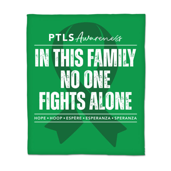 In This Family No One Fights Alone Throw